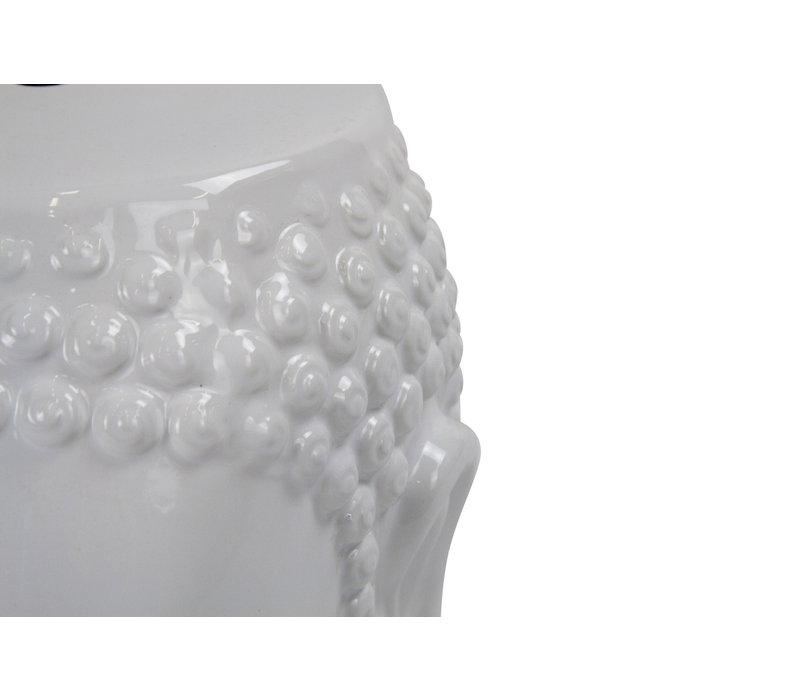 Ceramic Garden Stool D33xH46cm Porcelain Handmade
