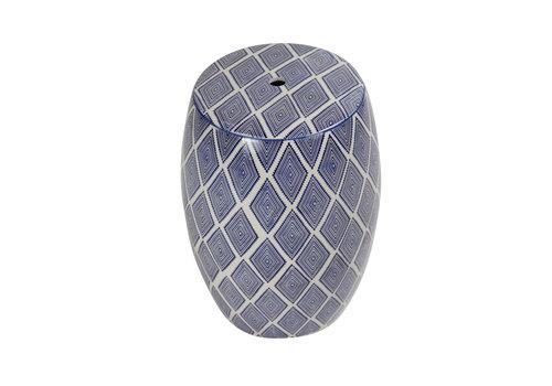 Fine Asianliving Keramik Hocker Gartenhocker Porzellan Handgefertigt D33xH46cm B-085