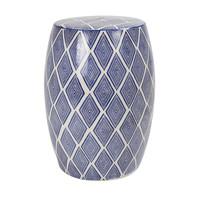 Sgabello da giardino in ceramica D33xA46cm Porcellana fatto a mano B-085