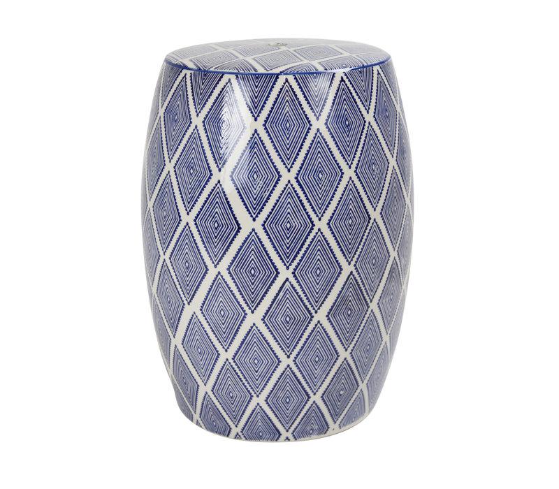 Ceramic Garden Stool D33xH46cm Porcelain Handmade B-085
