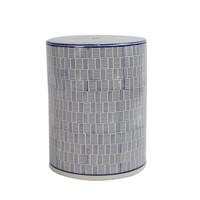 Keramik Hocker Gartenhocker Porzellan Handgefertigt D33xH46cm B-073