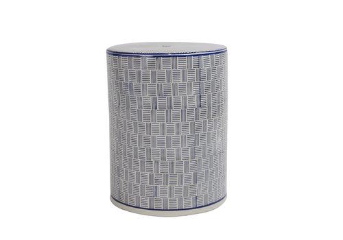 Fine Asianliving Sgabello in Ceramica Cinese Fatto a Mano D33xA46cm B-072