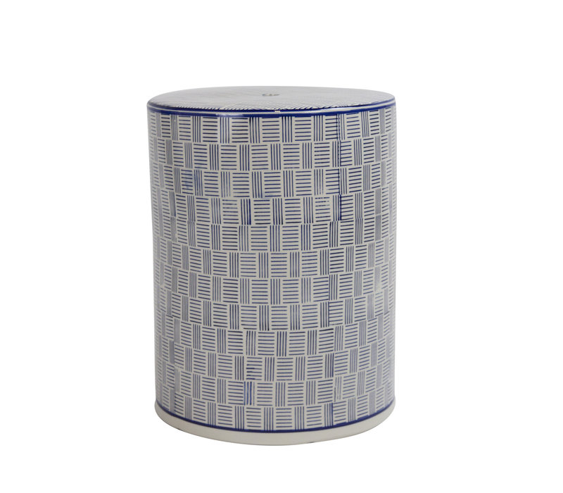 Sgabello in Ceramica Cinese Fatto a Mano D33xA46cm B-073