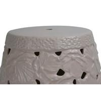 Keramik Hocker Gartenhocker Porzellan Handgefertigt D33xH46cm A-383