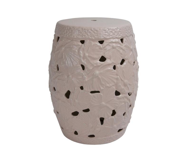 Ceramic Garden Stool D33xH46cm Porcelain Handmade A-383