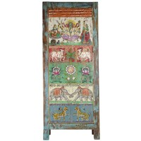 Wooden Indian Cabinet 75x36x187cm Handmade in India