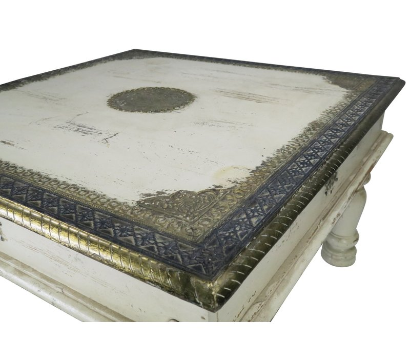 Wooden Indian Coffee Table Handmade 77x77x46cm Handmade in India