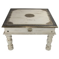 Wooden Indian Coffee Table 77x77x46cm Handmade in India