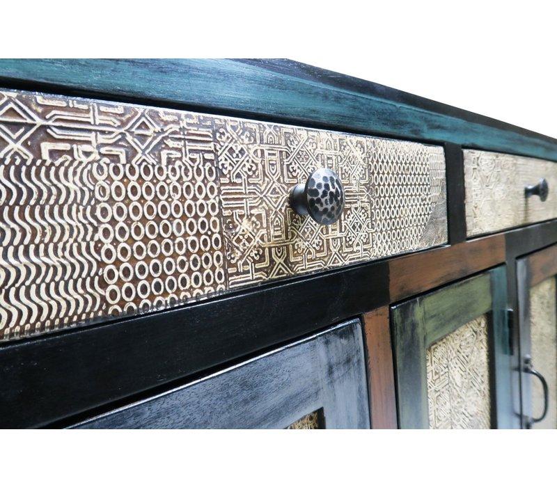Indische Dressoir Hout Handgemaakt in India B102xD31xH73cm