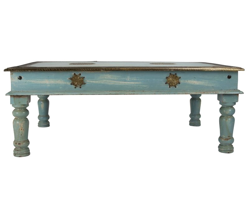 Wooden Indian Coffee Table Handmade 77x120x46cm Handmade in India
