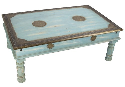 Fine Asianliving Wooden Indian Coffee Table Handmade 77x120x46cm Handmade in India