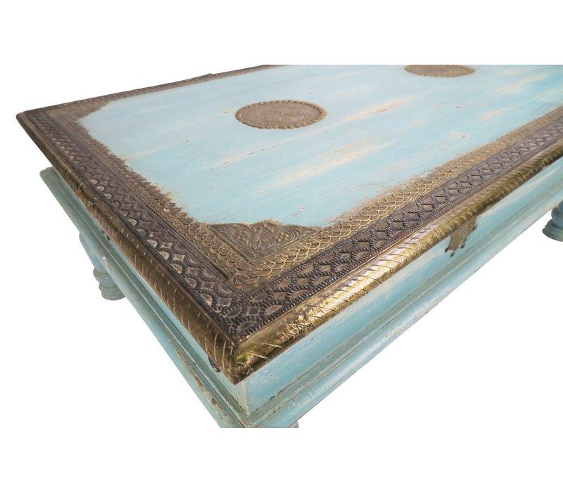 Houten Indische Salontafel 77x120x46cm Handgemaakt in India