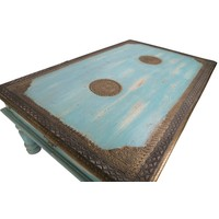 Houten Indische Salontafel Handgemaakt in India B120xD77xH46cm