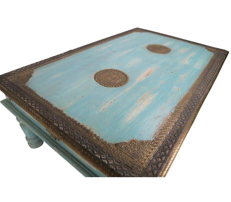 Indischer Couchtisch Handgefertigt in Indien B120xT77xH46cm