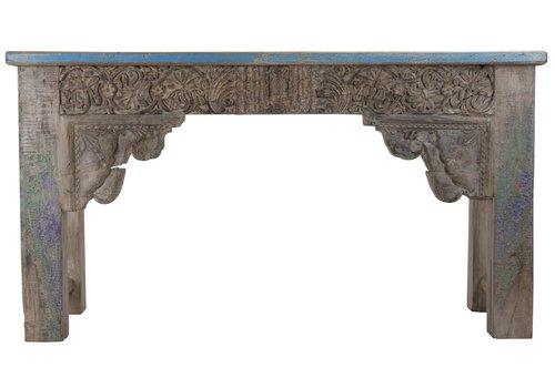 Fine Asianliving Indisch Console Tafel Handgesneden Hout 42x152x79cm Handgemaakt in India