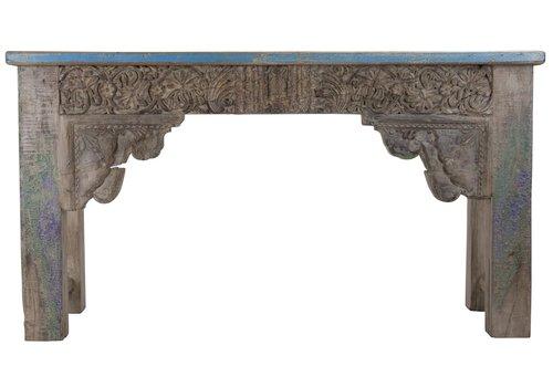Fine Asianliving Indischer Konsolentisch Holz Handgefertigt in Indien B152xT42xH79cm