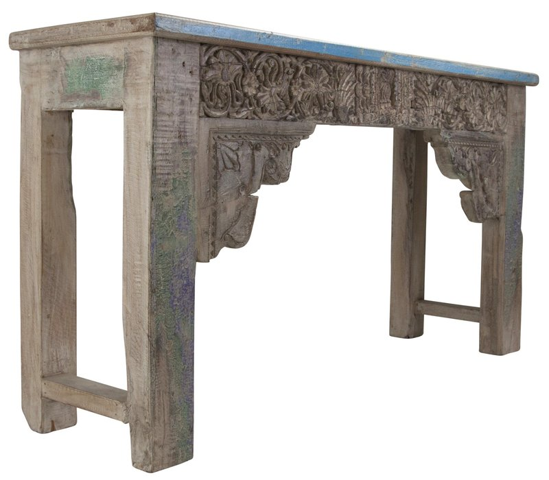 Indian Console Table Handcrafted Wood Handmade in India W152xD42xH79cm