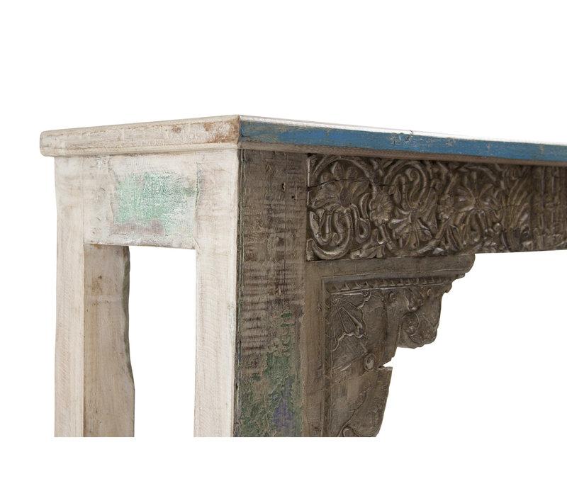 Mesa Consola India de Madera Hecha a Mano en la India 42x152x79cm