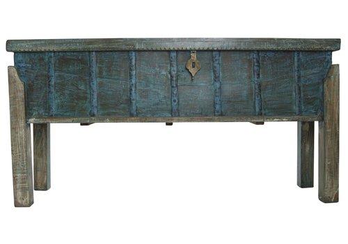 Fine Asianliving Mesa Consola India de Madera Hecha a Mano en la India 42x158x80cm