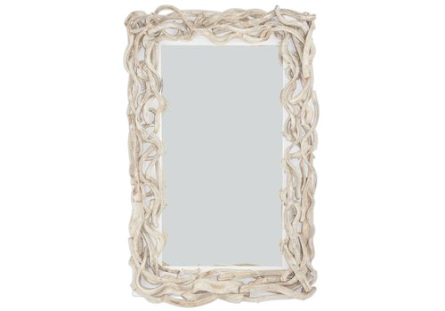 Fine Asianliving Rectangular Wall Mirror Solid Wooden Lianas Branches H110xW70cm