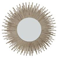 Ronde Wandspiegel Solide houten Lianen Takken D100cm