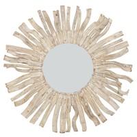 Ronde Wandspiegel Solide houten Lianen Takken D100cm (bend)