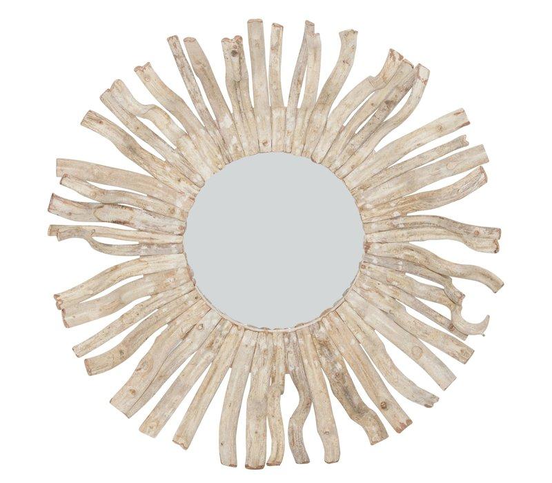 Wandspiegel Solide houten Lianen Takken D100cm