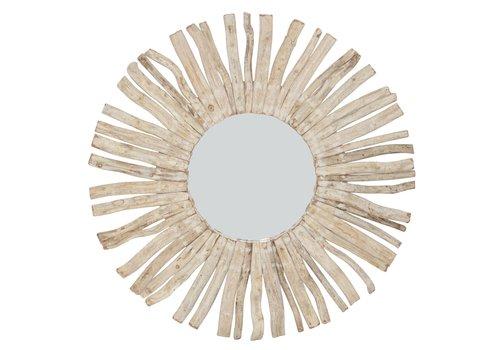 Fine Asianliving Ronde Wandspiegel Solide houten Lianen Takken D100cm (bend)