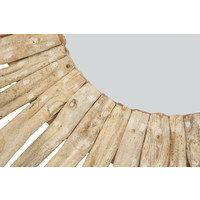 Round Wall Mirror Solid Wooden Lianas Branches D100cm