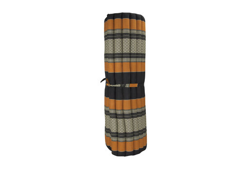 Fine Asianliving Thai Mat Rollable Mattress 200x100x4.5cm Black Orange