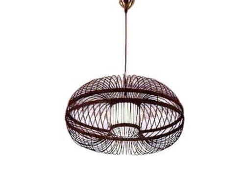 Fine Asianliving Bamboe Hanglamp Zwart Handgemaakt - Morris D46x22cm