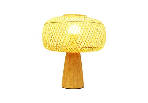 Fine Asianliving Lampe de Table en Bambou - Hazel D.28xH33cm