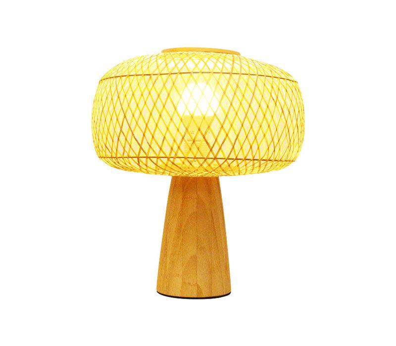 Bamboe Tafellamp - Hazel D28xH33cm