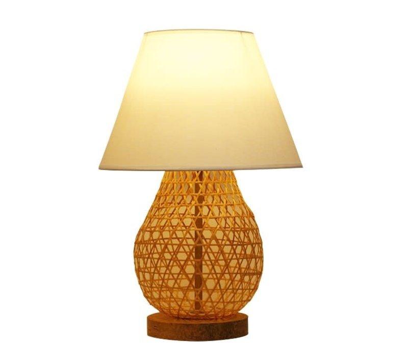 Bamboo Webbing Lamp - Wylie D30xH44cm