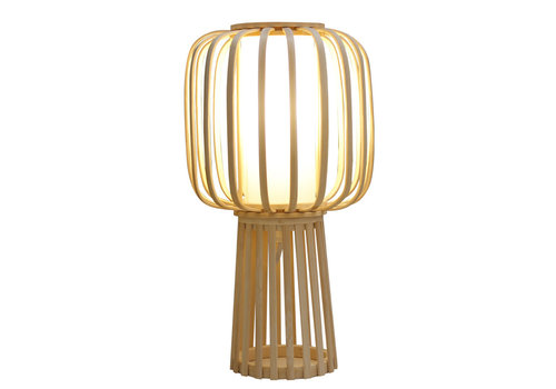 Fine Asianliving Lampe de Table en Bambou Fait Main - Aimee D.32xH60cm