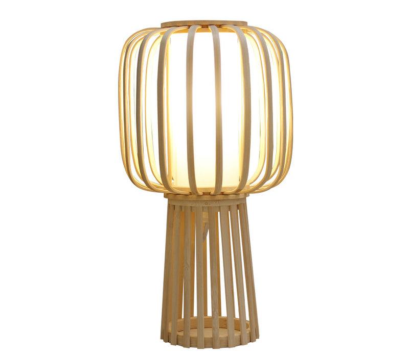 Tischlampe Bambus Handgefertigt - Aimee D32xH60cm