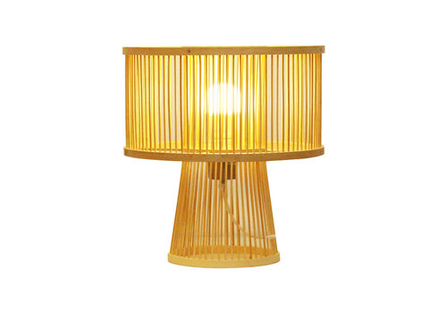 Fine Asianliving Bamboo Table Lamp Handmade - Remi D30xH31cm