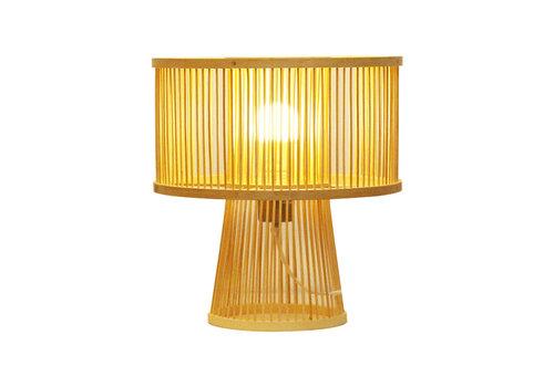 Fine Asianliving Lampe de Table en Bambou Fait Main - Remi D.30xH31cm