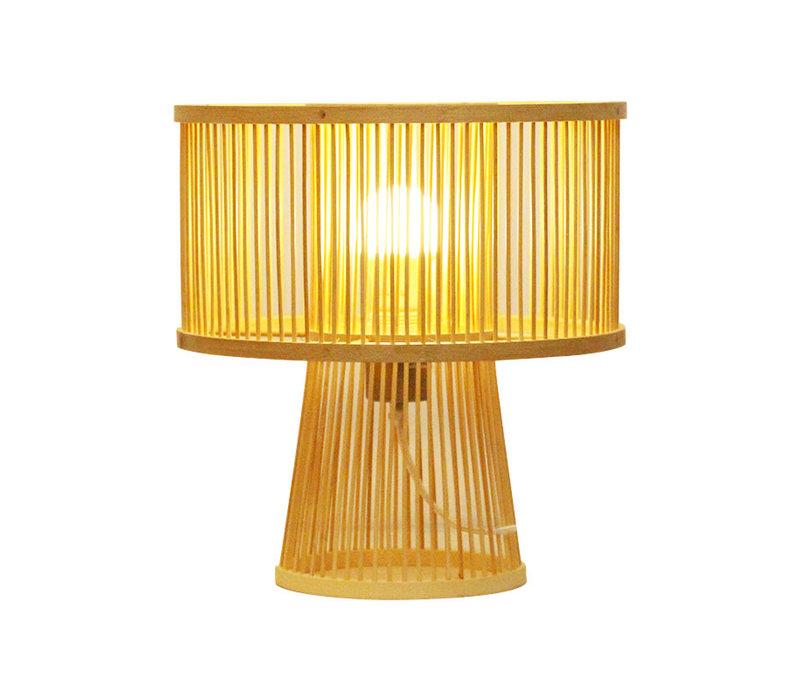 Lampada da Tavolo in Bambù Fatta a Mano - Remi D30xA31cm