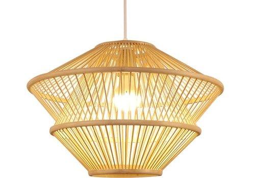 Fine Asianliving Lampada a Sospensione in Bambù Fatta a Mano - Oceana D46xA31cm