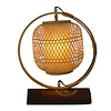 Fine Asianliving Lampe à Poser en Bambou Nara Webbing Fait Main Diam45xH45cm Handcrafted