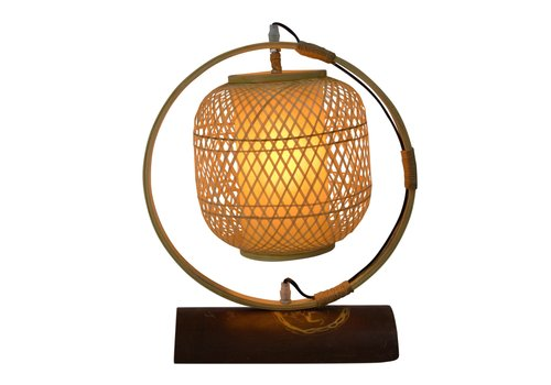 Fine Asianliving Bamboo Webbing Lamp Handcrafted - Nara D45xH45cm