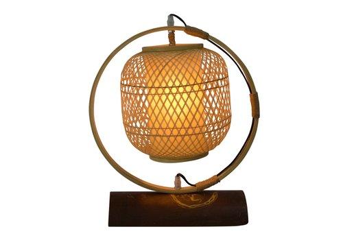 Fine Asianliving Lampe de Table en Bambou Webbing Fait Main - Nara D.45xH45cm