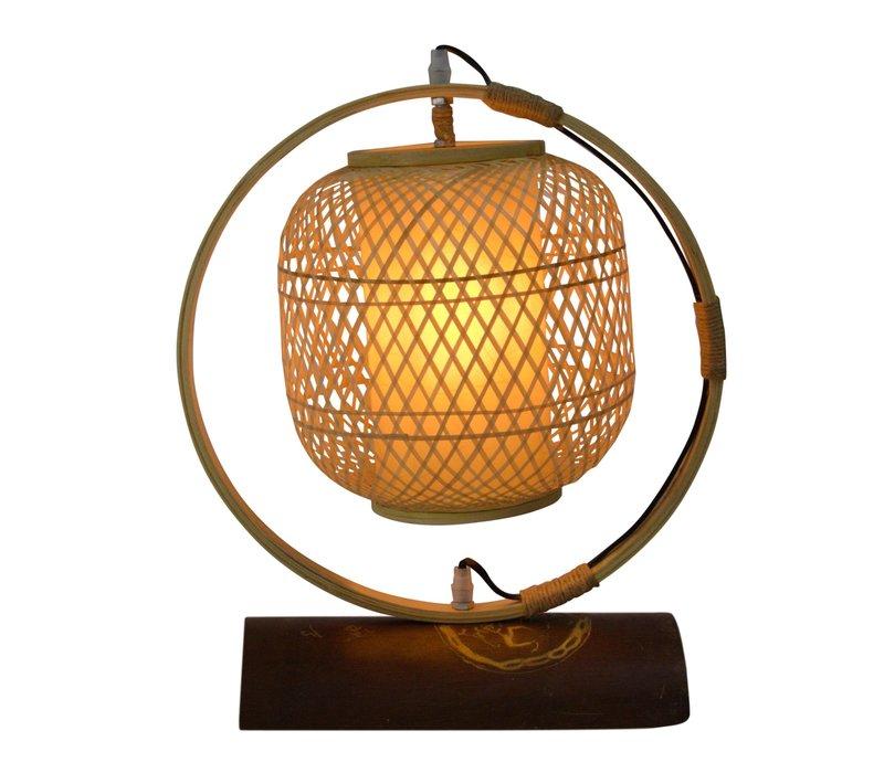 Bamboo Webbing Lamp Nara D45xH45cm Handcrafted