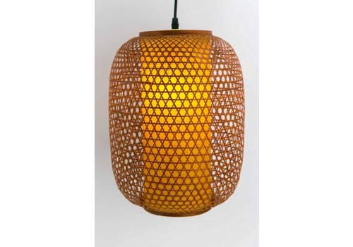 Fine Asianliving Japanische Bambus Webbing Lampe - Shinjuku - D26xH36cm