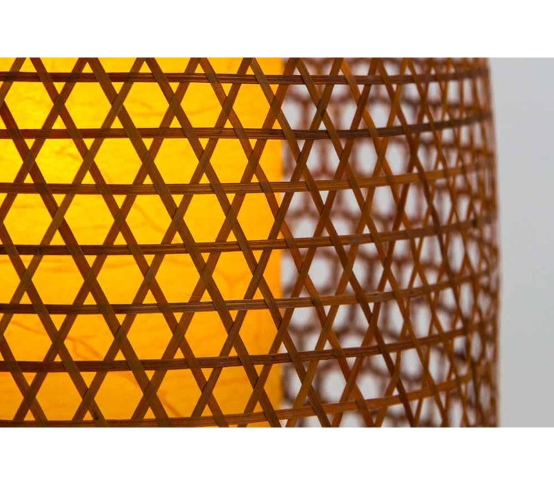 Japanische Bambus Webbing Lampe - Shinjuku - D26xH36cm