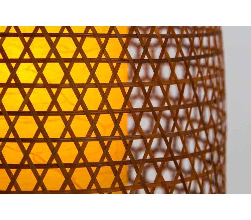 Fine Asianliving Japanese Bamboo Webbing Lamp Shiroi D42xH30cm