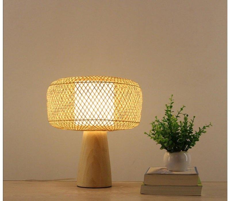 Lampe à Poser en Bambou Hazel Diam28xH33cm