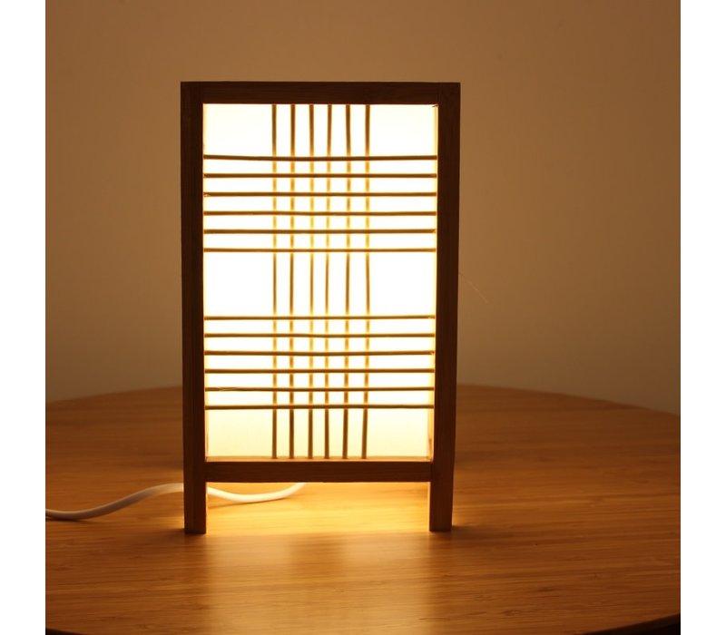 Japanse Tafellamp Natural - Hokkaido B15xD15xH25cm
