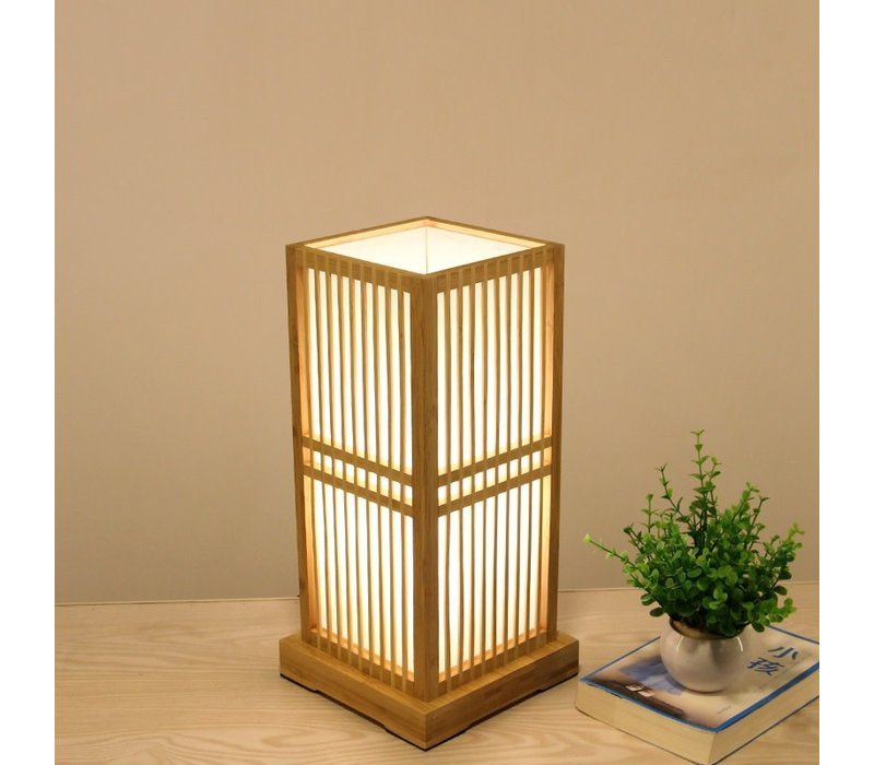 Japanese Table Lamp Natural - Tokyo W20xD20xH41.5cm